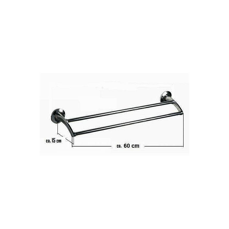Design handtuchhalter l nge 60cm mit doppelsstange serie rimini www versand - Handtuchhalter design ...
