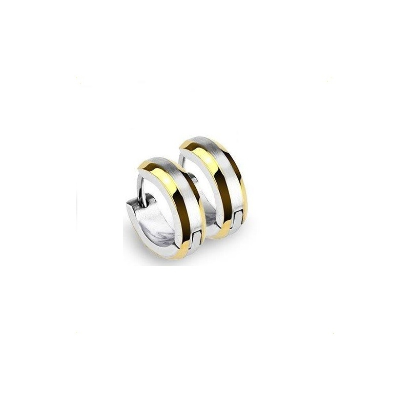 Ohrringe / Damenohrringe Edelstahl / Creolen silber und gold