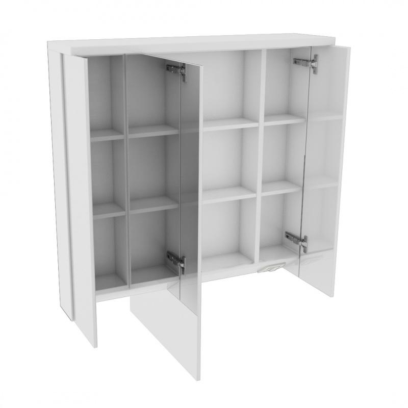 spiegelschrank 90cm serie heidelberg in weiss hochglanz. Black Bedroom Furniture Sets. Home Design Ideas